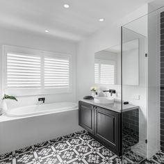 Best Indoor Garden Ideas for 2020 - Modern The Hamptons, Shower Cubicles, Tile Floor, Clarendon Homes, Bathroom Styling, Small Bathroom, Amazing Bathrooms, Hampton Style Bathrooms, Bathroom Inspiration