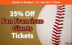 35% off San Francisco Giants Tickets vs Texas Rangers Fri. Jun. 8 @ 7:15pm