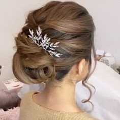"""GLAM IN VAN BEAUTY on Instagram: """"An elegant updo for this beautiful bride to be 💕 Hair by Carly @glaminvan"""""""