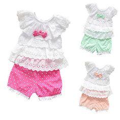2 Piezas Niño Bebé Recién Nacido Niñas conjunto Traje top/pant bebé ropa de verano