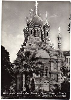 Vintage photo Sanremo San Remo Italy / AK foto / russian church