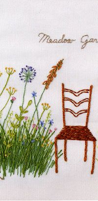 ♒ Enchanting Embroidery ♒ embroidered meadow garden
