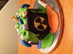 Cake made for a molecular biology graduate.