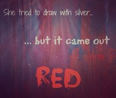 silver crayon red paint try the crayon get the paint