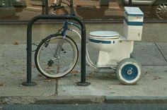bizarre bikes toilet 1