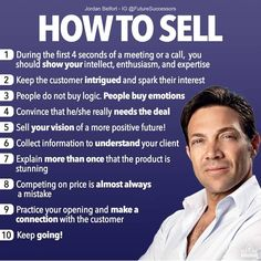 How to Sell -Jordan Belfort Double Tap Tag a Friend Business Coach, Business Money, Business Tips, Business Planning, Best Business Quotes, Sales Motivation, Business Motivation, Sales And Marketing, Business Marketing