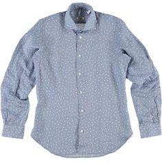 Camicia con motivo micro fiori in lino Age - € 39,90 | Nico.it