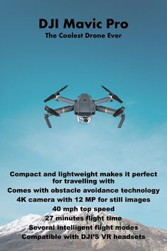 d778ed3238a The most powerful compact drone. The DJI Mavic comes with a powerful 4K  camera and