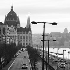 View on Parliament building in Budapest, Hungary by Dmitri Korobtsov