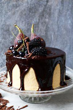Vegan Chocolate Cake with Chickpea Tahini Frosting (gluten-free)