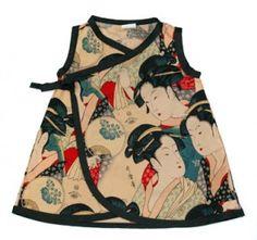 Japanese prints + baby clothes = Happy Rachel.