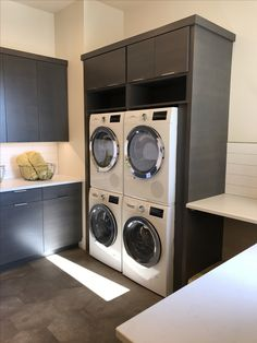 Double stacking washers would be perfect in the laundry room. Now if only they folded and put it away...