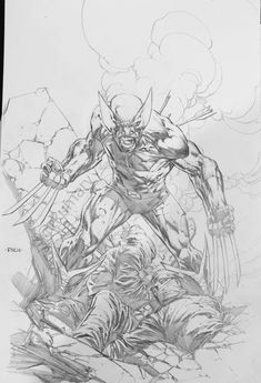 Wolverine Art, Wolverine Images, Comic Style Art, Comic Art, Comic Book Drawing, David Finch, Drawing Superheroes, Joker Comic, Superhero Coloring