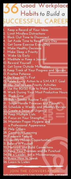 36 Good Workplace Habits to Build a Successful Career (work habits to build unstoppable success) - Karriere Career Development, Professional Development, Personal Development, Young Professional, Software Development, Career Success, Career Advice, Career Ideas, Career Goals