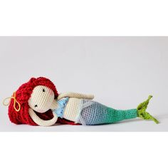 """Amigurumi crochet patternThis Sweet mermaid pattern is my own design, when finished he measure's approx 16"""" tall ( when using recommended yarn and hook ) The pattern includes instructions for the little fish too!The pattern is quite straight forward I recommend it as an intermediate/advanced beginner pattern. The instructions are very detailed and easy to follow if you know the basic stitches and techniques used to make amigurumi . The PDF file includes lots of pictures to help you along…"""