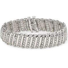 5 Carat Diamond Sterling Silver Tennis Bracelet