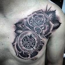 Resultado de imagem para clock tattoo designs