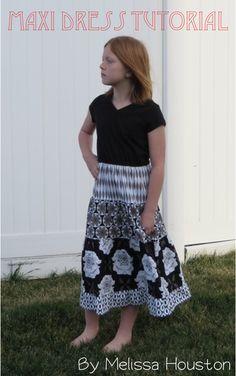 Riley Blake Designs -- Cutting Corners: Maxi Dress Tutorial: Mod Studio #hollizollinger #modstudio #rileyblakedesigns #maxidress #sewingtutorial