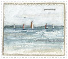 Little Harbour Crafts and Gifts Thread Painting, Thread Art, Fabric Painting, Fabric Art, Free Motion Embroidery, Free Machine Embroidery, Embroidery Applique, Pineapple Quilt Pattern, Beach Quilt