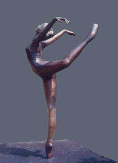 Bronze Dance and Ballet sculpture by artist Sterett-Gittings Kelsey titled: 'Attitude-Croisse-of-Richard (Ballet statue)' Dance Art, Art Object, Metal Art, Amazing Art, Sculpting, Carving, Sculpture Portrait, Marvel Statues, Garden Art
