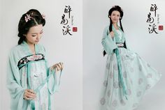 mingsonjia:  Some new designs from 衔泥小筑 Xiannixiaozhu Hanfu2015 I love how they use the same pattern design for two styles of Ruqun.