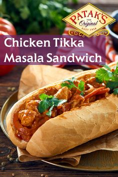 Mix in a little India - Try our Chicken Tikka Masala Sandwich Easy Chicken Tikka Masala, Cooking Recipes, Healthy Recipes, Cooking Blogs, Vegetarian Cooking, Food Meaning, Masala Sauce, Chicken Sandwich Recipes, Indian Dishes