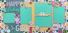 Page Kits — Scrappy Happy Designs Birthday Scrapbook Layouts, Scrapbooking Layouts, School Kit, Happy Birthday Girls, Happy Design, Adventures By Disney, Glitter Girl, Merry, Paper Crafts