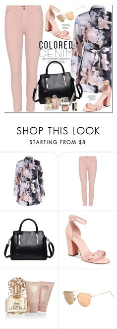 """""""Spring Trend: Colored Denim"""" by oshint ❤ liked on Polyvore featuring Citizens of Humanity, Avec Les Filles, Vince Camuto and Gucci"""