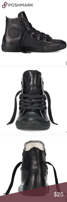 Converse Chuck Taylor's size 3 all black shoes New without box. Kids size 3, women's size 5! Unisex Converse Shoes Sneakers
