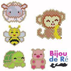 Fuse Bead Patterns, Peyote Stitch Patterns, Beaded Earrings Patterns, Beading Patterns, Pixel Beads, Fuse Beads, Seed Bead Projects, Beading Projects, Modele Pixel Art