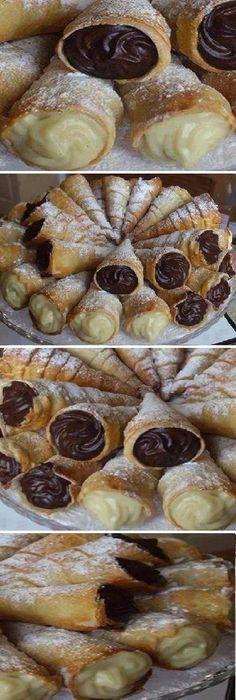 Los Mejores CONOS DULCES del Mundo Rellenos de CHOCOLATE Y VAINILLA #conos #dulces #masa #hojaldre #postres #vainilla #caseros #cremosos #deliciosos #faciles #preparar #icecream #ice #eiscreme #crèmeglacée #アイスクリーム #gelato #helados #receta #recipe #nestlecocina #casero #heladitos #cocina #buddyvalastro #crema #chocolate #oreo Si te gusta dinos HOLA y dale a Me Gusta MIREN …