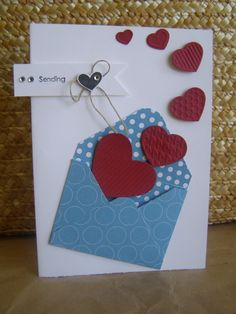 The lovely envelope - using the Simply Scored Diagonal Plate.