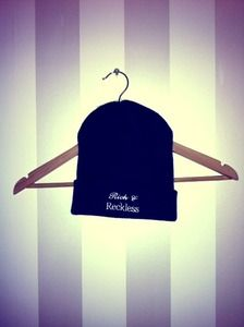 Image of Navy Rich & Reckless Beanie www.RichandReckless.co.uk £9.99