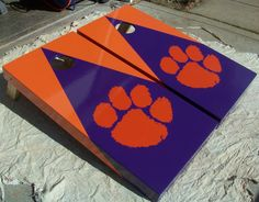 Hand Painted Clemson Cornhole Boards by mkhew2 on Etsy, $200.00