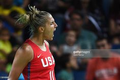 Elena Delle Donne #11 of the United States reacts during a Women's Semifinal Basketball game between the United States and France at the Carioca Arena on Day 13 of the 2016 Rio Olympic Games on August 18, 2016 in Rio de Janeiro, Brazil.