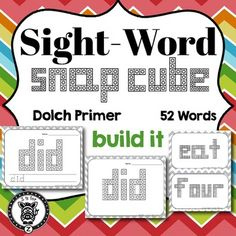 Dolch Sight Words Snap Block - Primer Encourage your students with hands on learning! Students practice their alphabet by building with snap cubes / unifix cubes and writing the ltters. This set includes every letter in the alphabet (in uppercase and lower case). These would be great for a activity center. Students who finish early can color in the blocks on the sheet. ELA, Language Arts, English, fun, worksheet