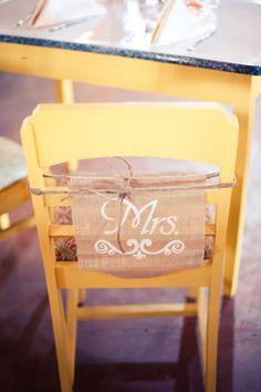 Rustic Barn Wedding Bride Chair