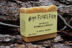 Rosemary & Lemongrass GOAT MILK SOAP  All by HopeFloatsFarm