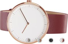 Molvena Watch, Rose Gold and Red Leather Strap from Made.com. Multi-Coloured. NEW Express delivery. Still using your phone to check the time? Be mo..