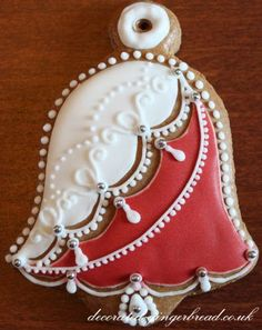 Handmade Christmas gingerbread decoration. Leave it to the Europeans.