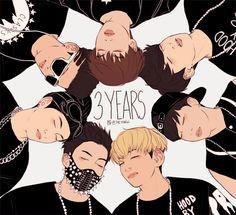 BTS Happy three year anniversary