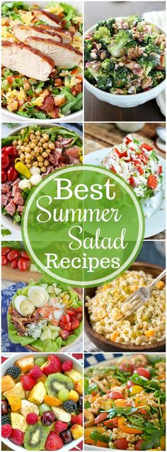 It's officially summer! I've got you covered with over 19 of the very BEST easy summer salad recipes! They range from savory to sweet recipes and some can be made as an entree and some as a side dish to a quick BBQ dinner. I'm dying to try all of these recipes this summer! What are you going to make first?!