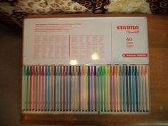 Vintage Stabilo Schwan Color Marker Pen 68 set in Metal Tin 40 colors COMPLETE #Stabilo