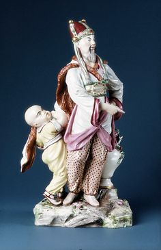 Chinese Emperor, ca. 1767   Germany, Ludwigsburg Porcelain Manufactory, Joseph Weinmüller (born 1743, active at Ludwigsburg 1765–67)   Hard-paste porcelain Dimensions: H. 29.2 cm  New York, Metropolitan Museum of Art, 1982.60.207