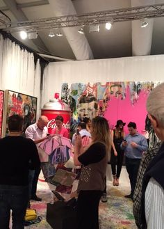 Contessa Gallery enjoying a successful opening night at Art Miami , Booth A32 & BoothA32a. #artmiami #MiamiArtWeek