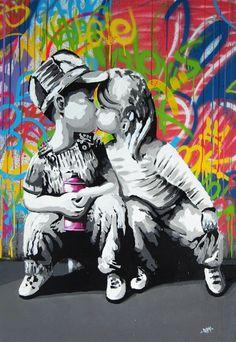 Love Is The Answer Wall Graffiti Art Canvas Prints Street Pop Art Canvas Banksy Paintings Banksy Graffiti, Street Art Graffiti, Graffiti Kunst, Love Graffiti, Graffiti Wall Art, Banksy Posters, Banksy Canvas, Bansky, Graffiti Painting
