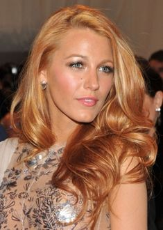 Blake Lively Strawberry Blonde with Platinum Highlights (color wash of marigold)