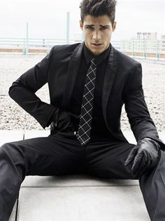 Black-on-black Suit... i want the guy or the guy who looks like this in a suit.