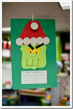 classroom, holiday ideas, school, grinch, activ, winter craft, decemb, craft ideas, christma