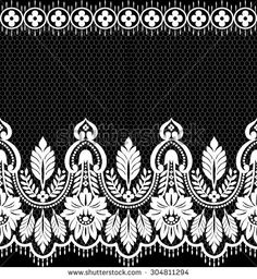 Find Seamless Lace Pattern Flower Vintage Vector stock images in HD and millions of other royalty-free stock photos, illustrations and vectors in the Shutterstock collection. Border Embroidery Designs, Bead Embroidery Patterns, Machine Embroidery Designs, Tapestry Crochet Patterns, Textile Patterns, Printable Stencil Patterns, Art Nouveau Flowers, Embroidery Hearts, Fabric Stamping